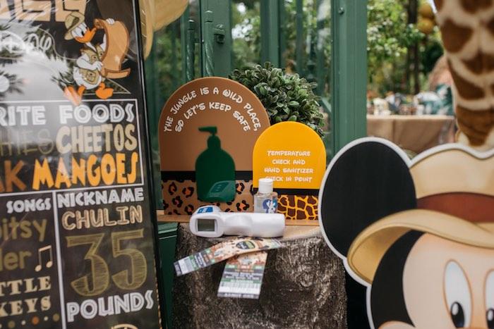 Sanitation Station from a Mickey Mouse Safari Party on Kara's Party Ideas | KarasPartyIdeas.com (10)