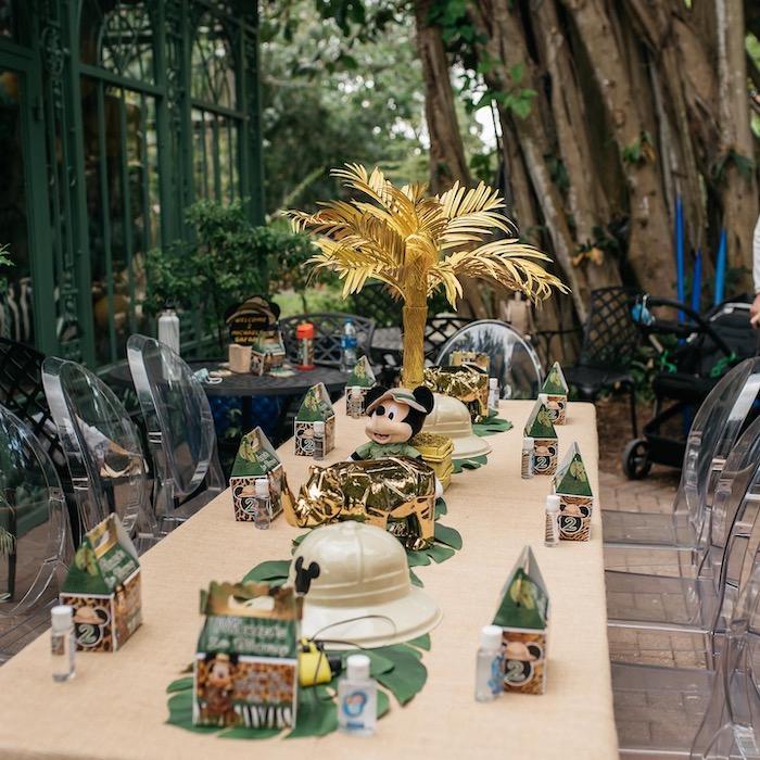Mickey Mouse-inspired Safari Guest Table from a Mickey Mouse Safari Party on Kara's Party Ideas | KarasPartyIdeas.com (22)