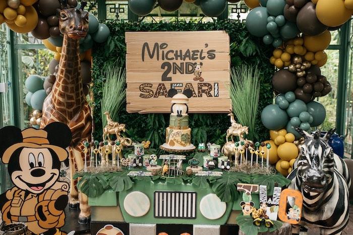 Mickey Mouse-inspired Safari Dessert Table from a Mickey Mouse Safari Party on Kara's Party Ideas | KarasPartyIdeas.com (17)