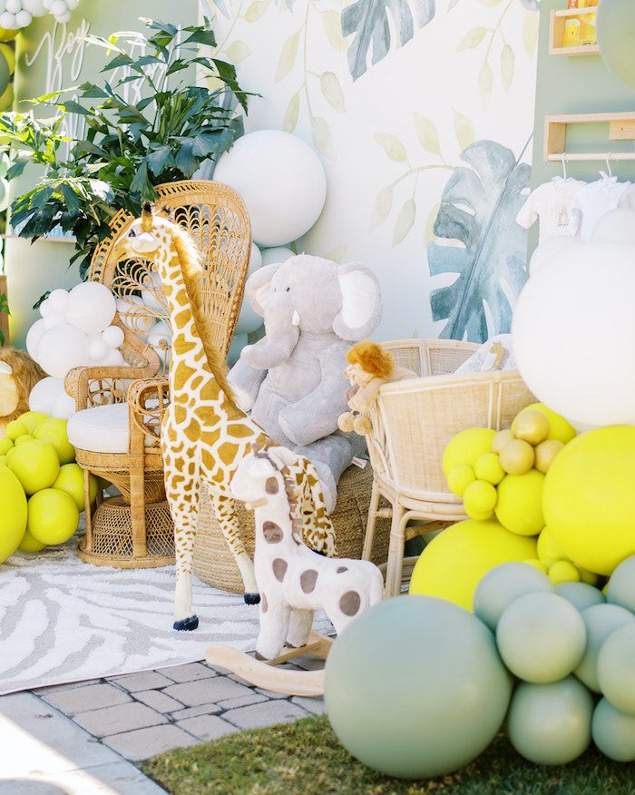 Plush Safari Animals from a Modern Safari Drive-By Baby Shower on Kara's Party Ideas | KarasPartyIdeas.com (10)