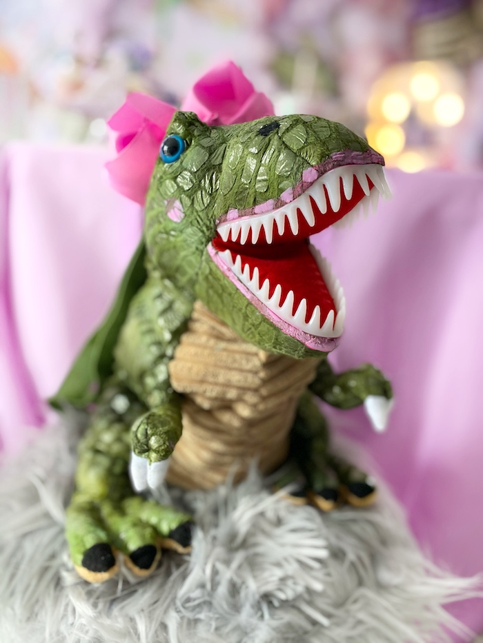 Plush T-Rex Favor from a Pastel Dinos & Paleontologists Party on Kara's Party Ideas | KarasPartyIdeas.com (24)
