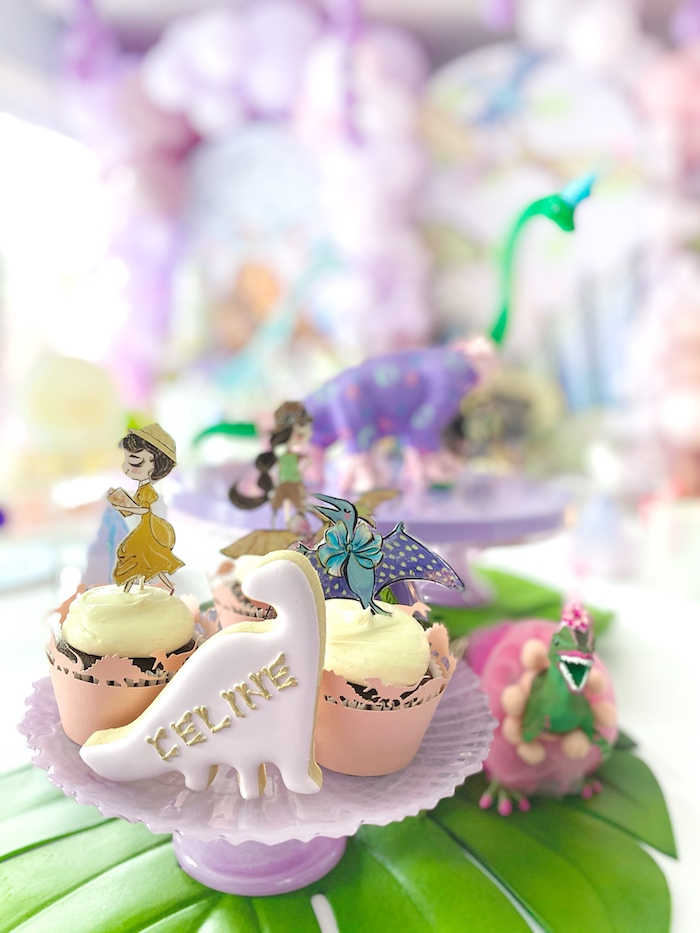 Cupcake Platter from a Pastel Dinos & Paleontologists Party on Kara's Party Ideas | KarasPartyIdeas.com (22)