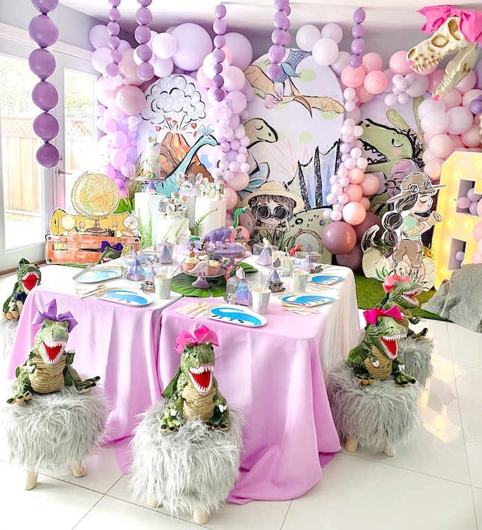 Pastel Dinos & Paleontologists Party on Kara's Party Ideas | KarasPartyIdeas.com (21)