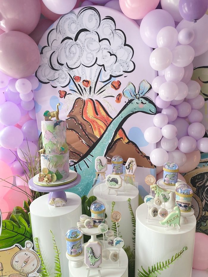 Pastel Dinos & Paleontologists Party on Kara's Party Ideas | KarasPartyIdeas.com (19)