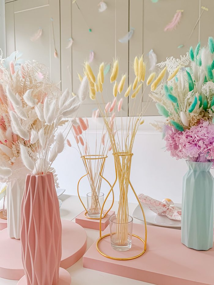 Modern Easter Blooms from a Pastel Easter Tablescape on Kara's Party Ideas | KarasPartyIdeas.com (15)