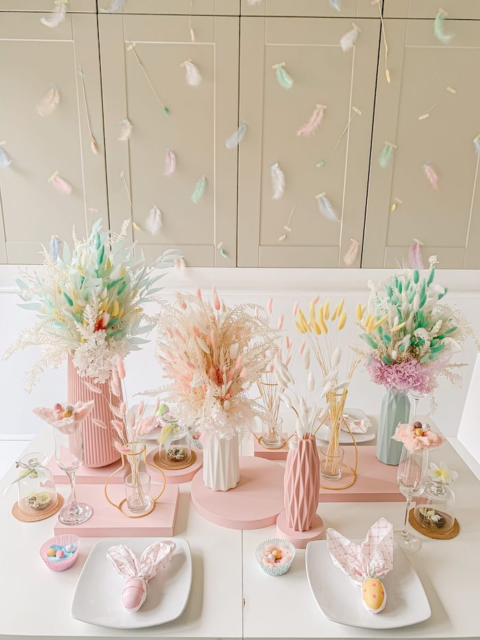 Pastel Easter Tablescape on Kara's Party Ideas | KarasPartyIdeas.com (14)