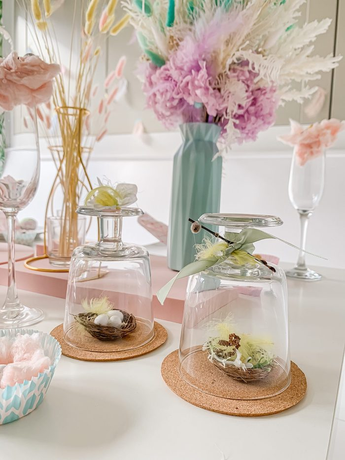 DIY Cloche Decorations from a Pastel Easter Tablescape on Kara's Party Ideas | KarasPartyIdeas.com (12)