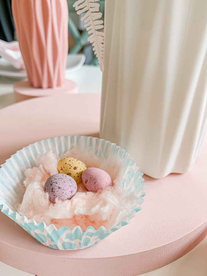 Cotton Candy Easter Egg Cup from a Pastel Easter Tablescape on Kara's Party Ideas | KarasPartyIdeas.com (10)