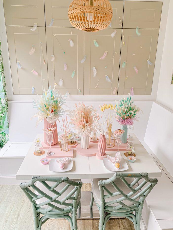 Pastel Easter Tablescape on Kara's Party Ideas | KarasPartyIdeas.com (9)