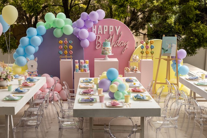 Pastel Llama Party on Kara's Party Ideas | KarasPartyIdeas.com (5)