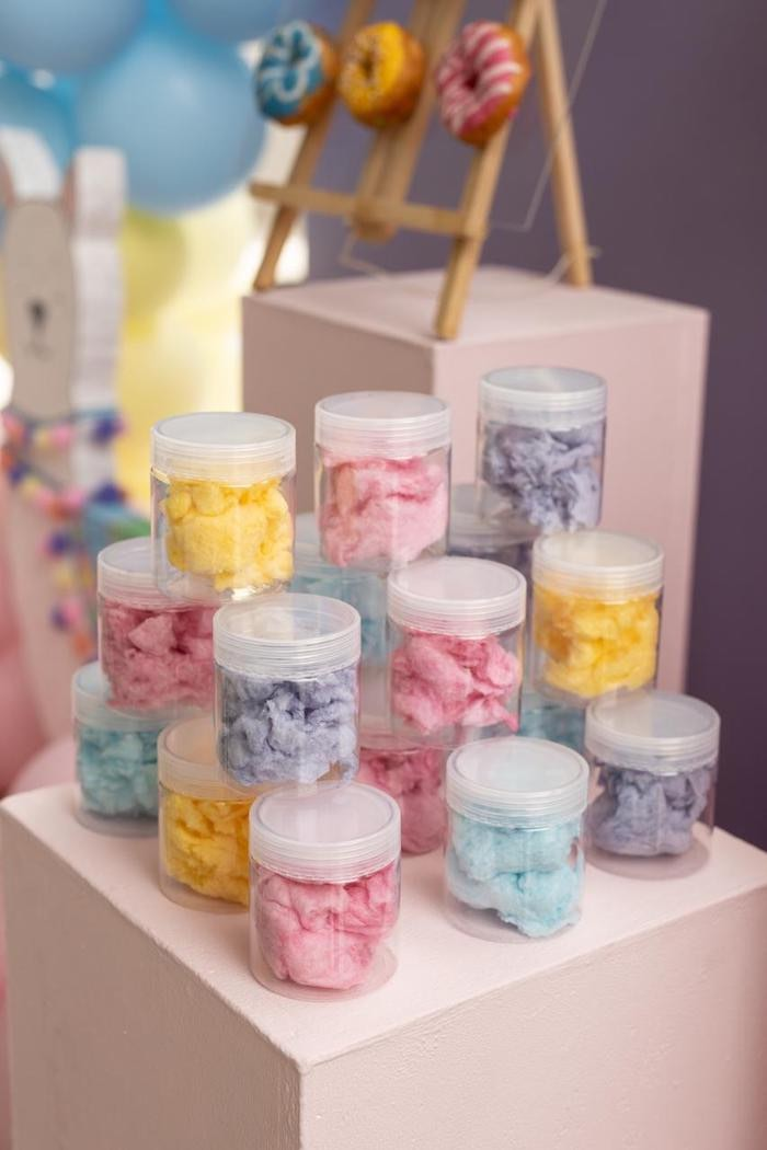 Cotton Candy Jars from a Pastel Llama Party on Kara's Party Ideas | KarasPartyIdeas.com (4)