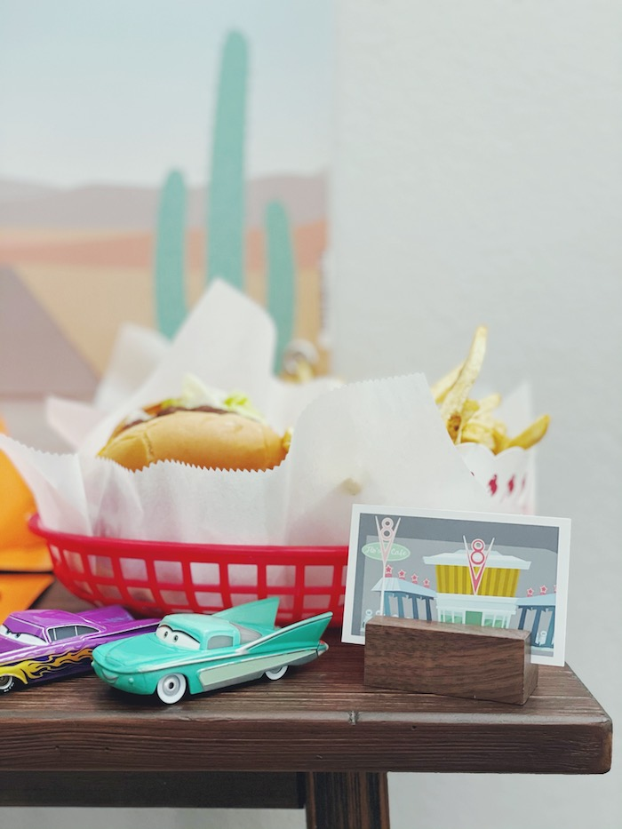 Flo's Cafe Food Baskets from a Retro Radiator Springs Birthday Party on Kara's Party Ideas | KarasPartyIdeas.com (6)