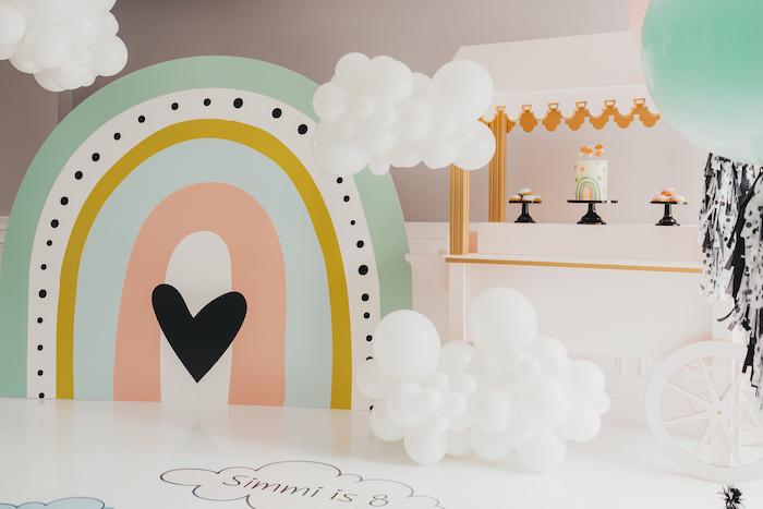 Sleek + Minimal Pastel Rainbow Party on Kara's Party Ideas | KarasPartyIdeas.com (4)