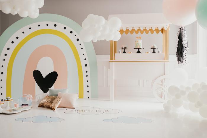 Sleek + Minimal Pastel Rainbow Party on Kara's Party Ideas | KarasPartyIdeas.com (17)