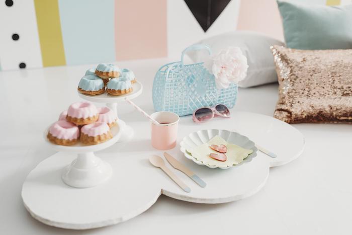 Cloud Table from a Sleek + Minimal Pastel Rainbow Party on Kara's Party Ideas | KarasPartyIdeas.com (15)