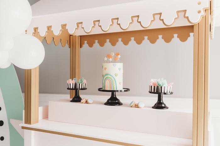 Pastel Rainbow Dessert Spread from a Sleek + Minimal Pastel Rainbow Party on Kara's Party Ideas | KarasPartyIdeas.com (14)