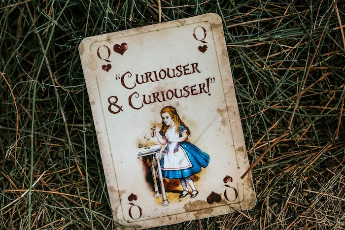 Alice in Wonderland Playing Card from a Woodland Alice in Wonderland Tea Party on Kara's Party Ideas | KarasPartyIdeas.com (21)