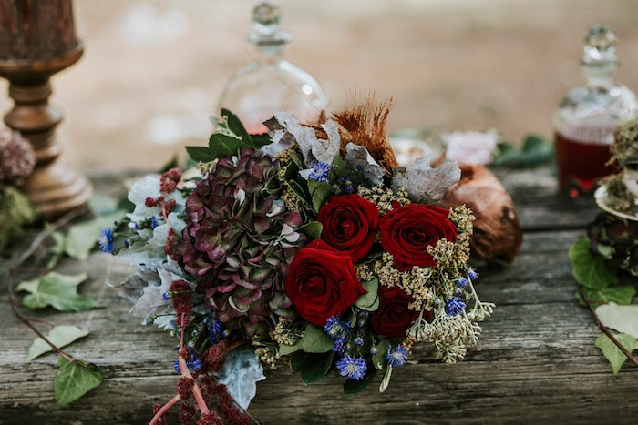 Rustic Roses from a Woodland Alice in Wonderland Tea Party on Kara's Party Ideas | KarasPartyIdeas.com (12)