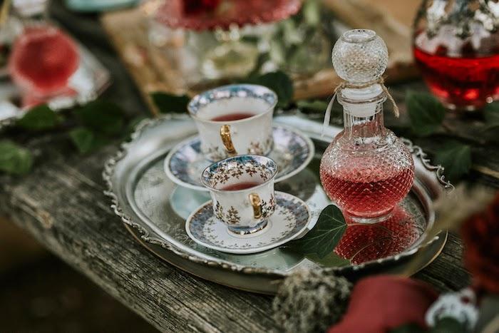 Tea Cups from a Woodland Alice in Wonderland Tea Party on Kara's Party Ideas | KarasPartyIdeas.com (11)