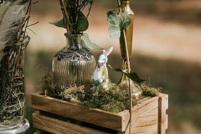 White Rabbit Figurine from a Woodland Alice in Wonderland Tea Party on Kara's Party Ideas | KarasPartyIdeas.com (27)