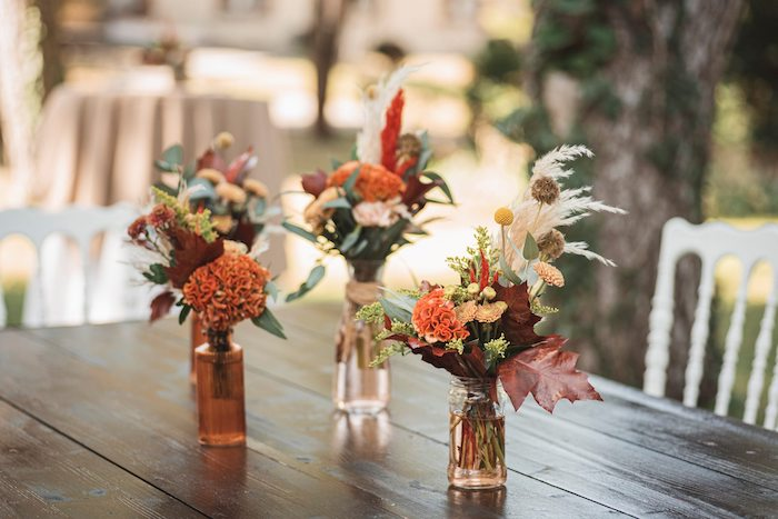 Woodland-inspired Floral Centerpieces from a Woodland Forest Christening Party on Kara's Party Ideas | KarasPartyIdeas.com (23)