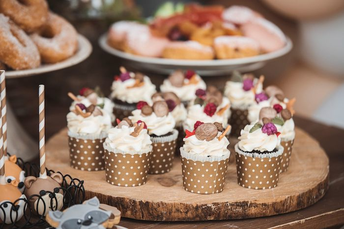 Woodland Cupcakes from a Woodland Forest Christening Party on Kara's Party Ideas | KarasPartyIdeas.com (17)