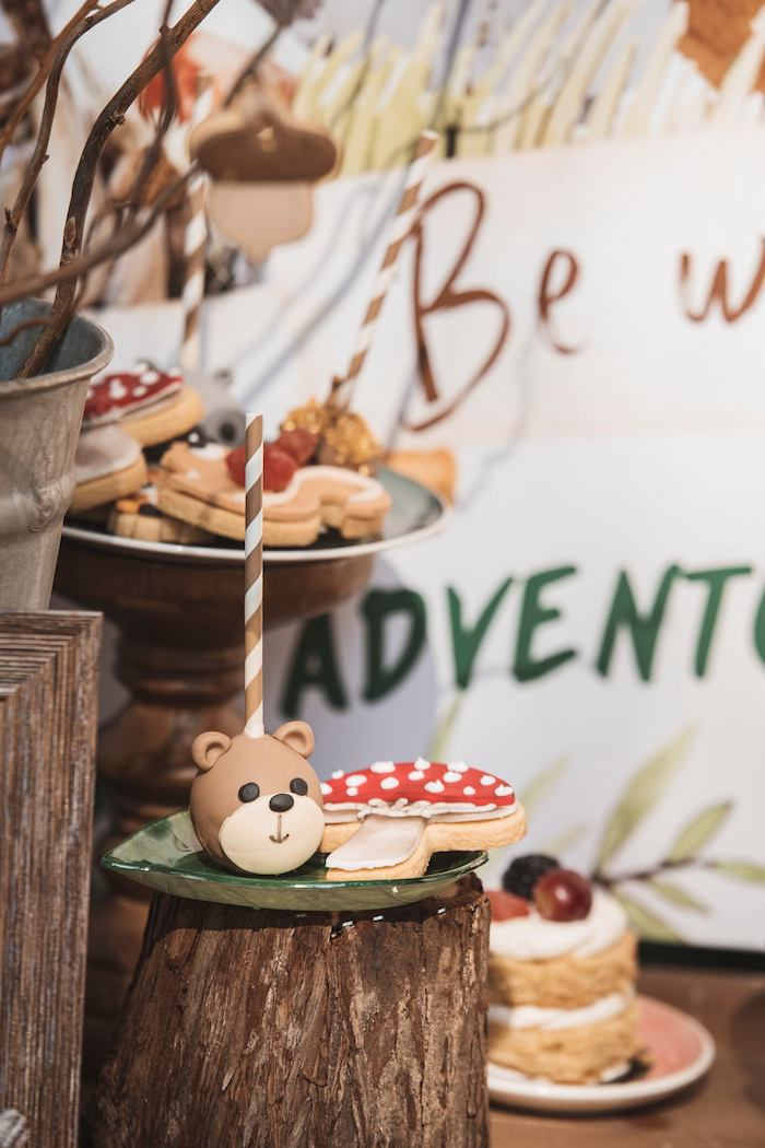 Woodland Sweets from a Woodland Forest Christening Party on Kara's Party Ideas | KarasPartyIdeas.com (31)