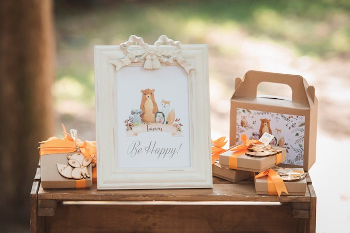 Woodland Print + Favor Boxes from a Woodland Forest Christening Party on Kara's Party Ideas | KarasPartyIdeas.com (27)