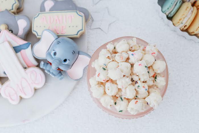 Confetti Popcorn from a Pastel Dumbo + Circus Birthday Party on Kara's Party Ideas | KarasPartyIdeas.com (11)