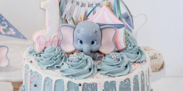 Pastel Dumbo + Circus Birthday Party on Kara's Party Ideas | KarasPartyIdeas.com (3)
