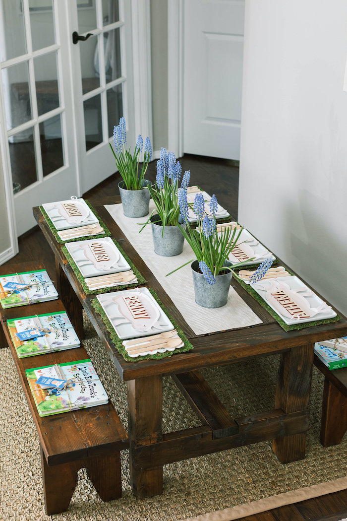 """""""Little Blue Truck"""" Inspired Guest Table from a """"Little Blue Truck"""" Inspired Birthday Party on Kara's Party Ideas 