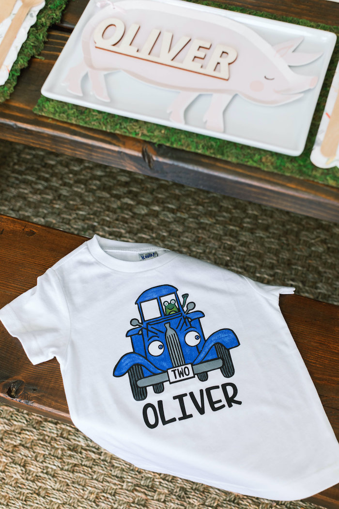 "Custom ""Little Blue Truck Shirt from a ""Little Blue Truck"" Inspired Birthday Party on Kara's Party Ideas | KarasPartyIdeas.com (30)"