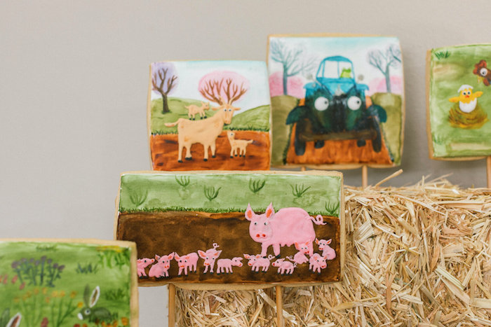 """Farm Animal Cookies from a """"Little Blue Truck"""" Inspired Birthday Party on Kara's Party Ideas 