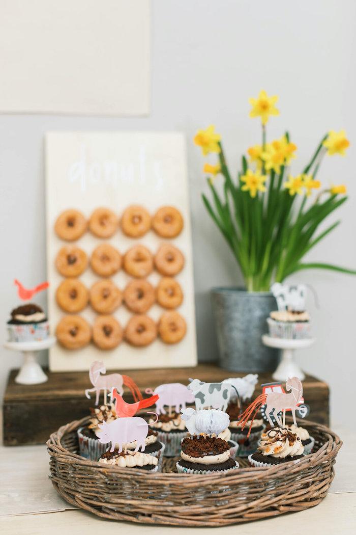 "Farm Animal Cupcakes from a ""Little Blue Truck"" Inspired Birthday Party on Kara's Party Ideas | KarasPartyIdeas.com (50)"