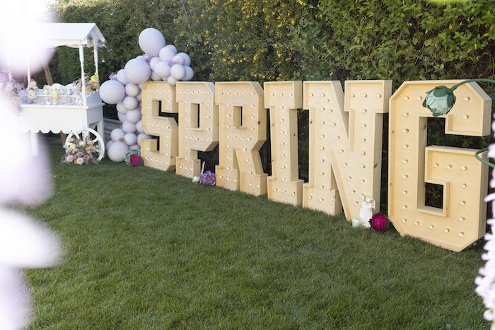 SPRING Marquees from a Blooming Spring Garden Party on Kara's Party Ideas | KarasPartyIdeas.com (16)