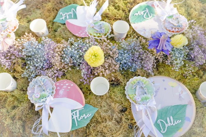Garden Guest Table + Table Settings from a Blooming Spring Garden Party on Kara's Party Ideas | KarasPartyIdeas.com (15)