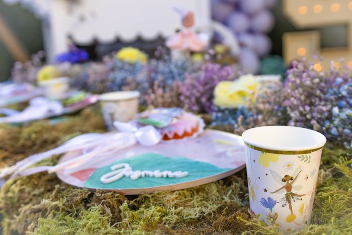 Garden Guest Table Setting from a Blooming Spring Garden Party on Kara's Party Ideas | KarasPartyIdeas.com (11)
