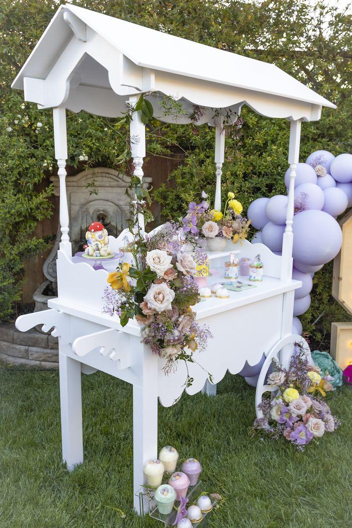 Garden Themed Dessert Table from a Blooming Spring Garden Party on Kara's Party Ideas | KarasPartyIdeas.com (6)