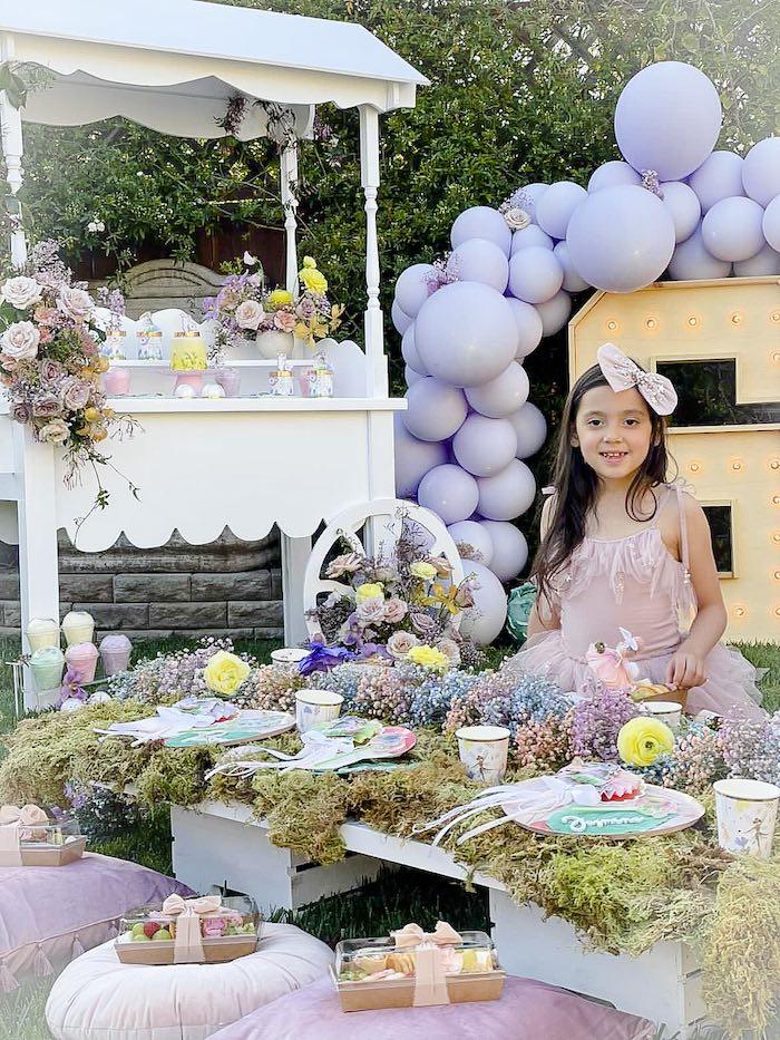 Garden Guest Table from a Blooming Spring Garden Party on Kara's Party Ideas | KarasPartyIdeas.com (26)