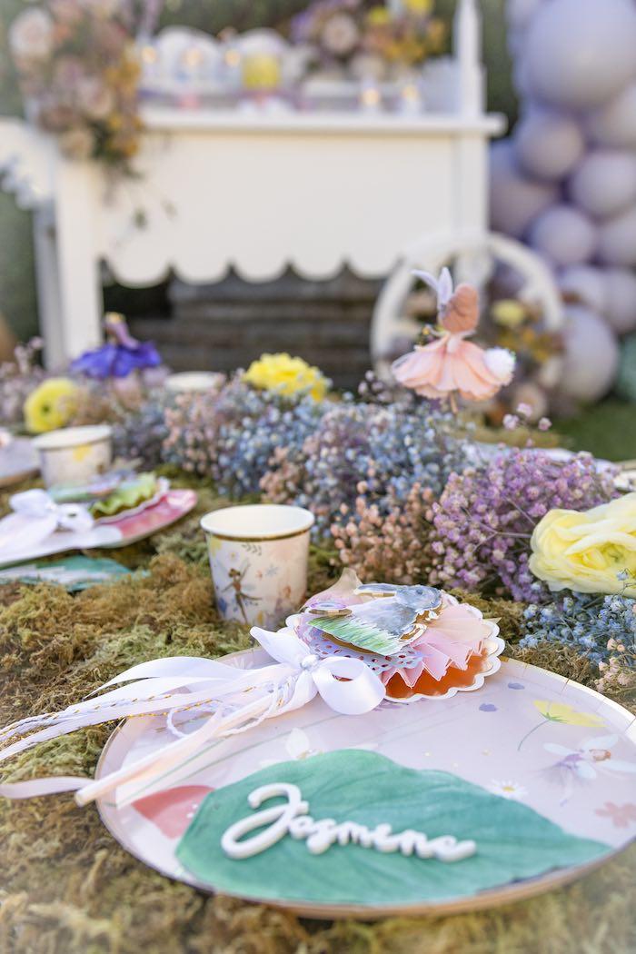 Garden Guest Table Setting from a Blooming Spring Garden Party on Kara's Party Ideas | KarasPartyIdeas.com (25)
