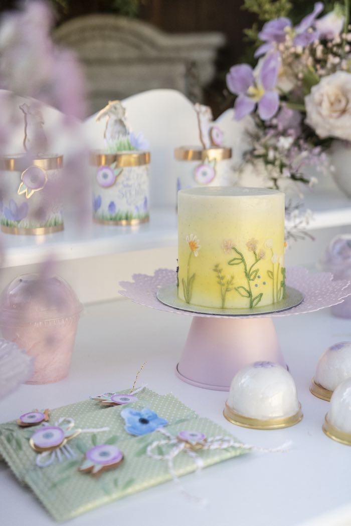 Spring Garden Cake from a Blooming Spring Garden Party on Kara's Party Ideas | KarasPartyIdeas.com (23)