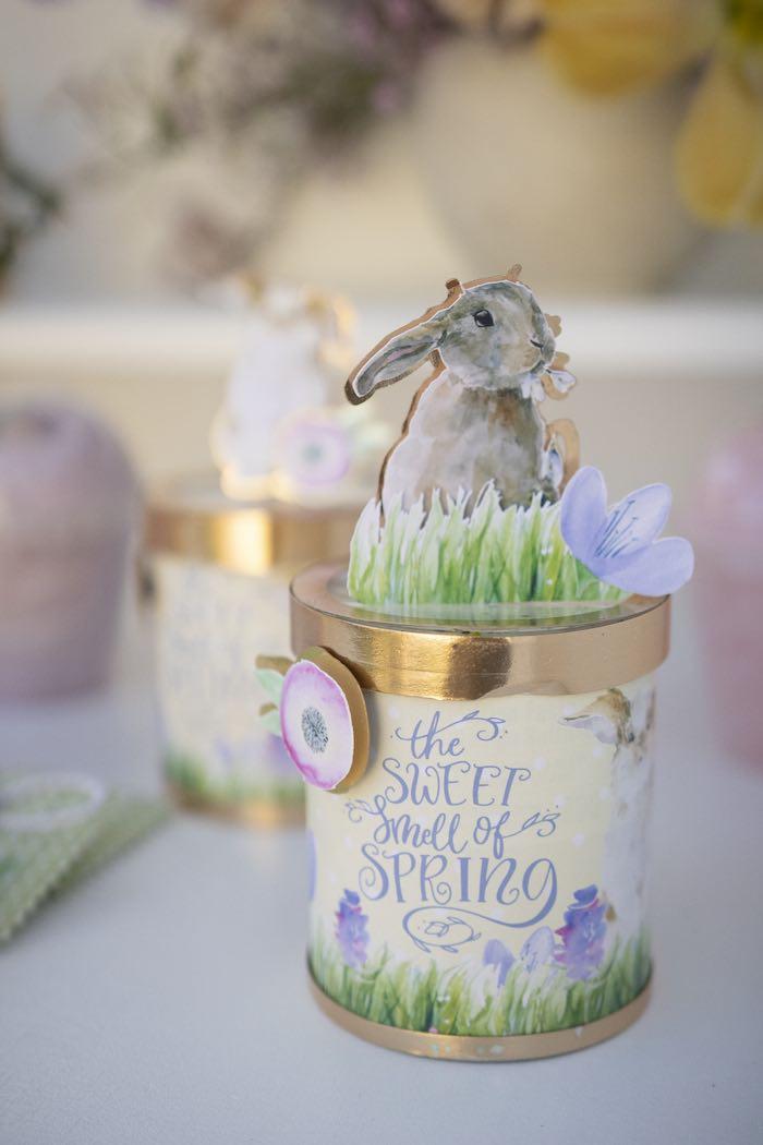 Spring Bunny Favor Jar from a Blooming Spring Garden Party on Kara's Party Ideas | KarasPartyIdeas.com (22)