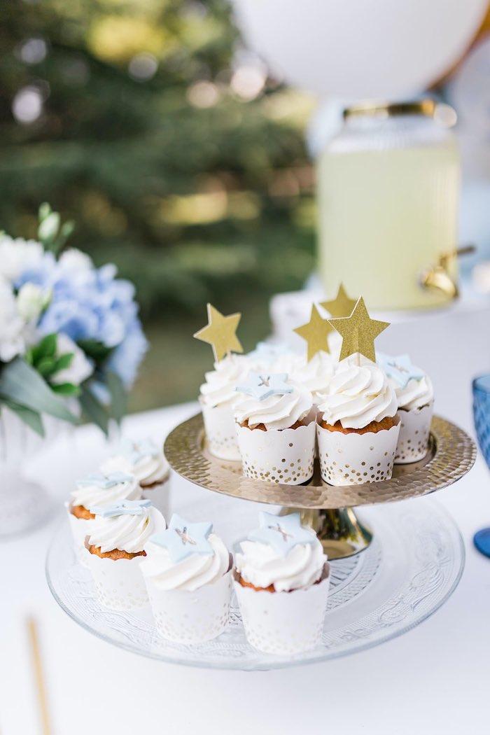 Blue & Gold Garden Baptism Party on Kara's Party Ideas   KarasPartyIdeas.com (16)