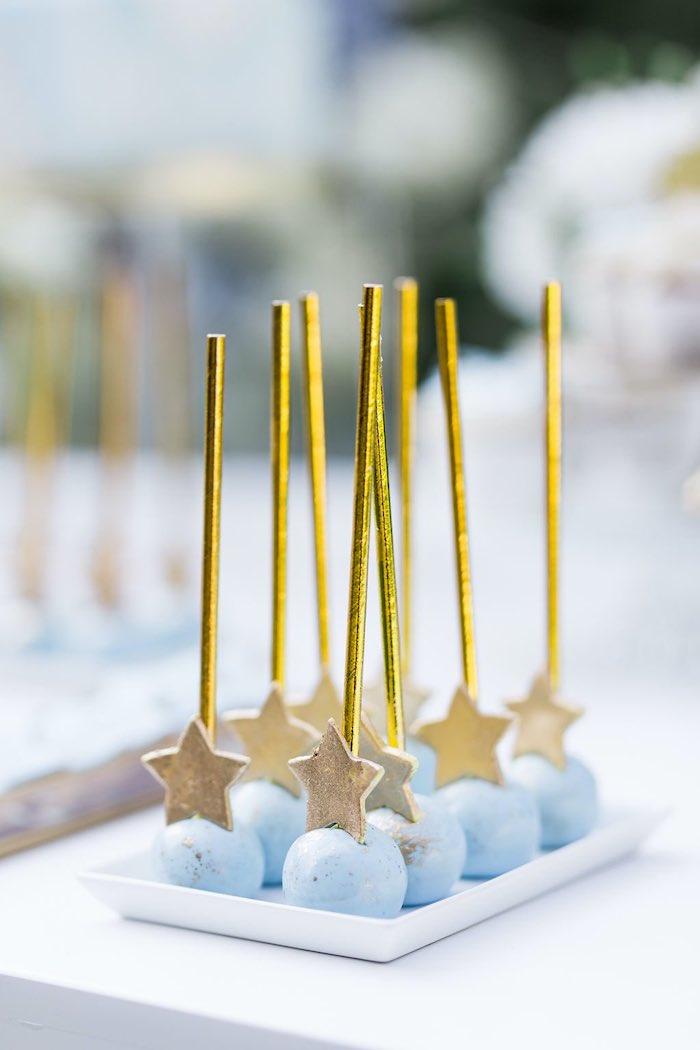 Blue & Gold Garden Baptism Party on Kara's Party Ideas   KarasPartyIdeas.com (13)