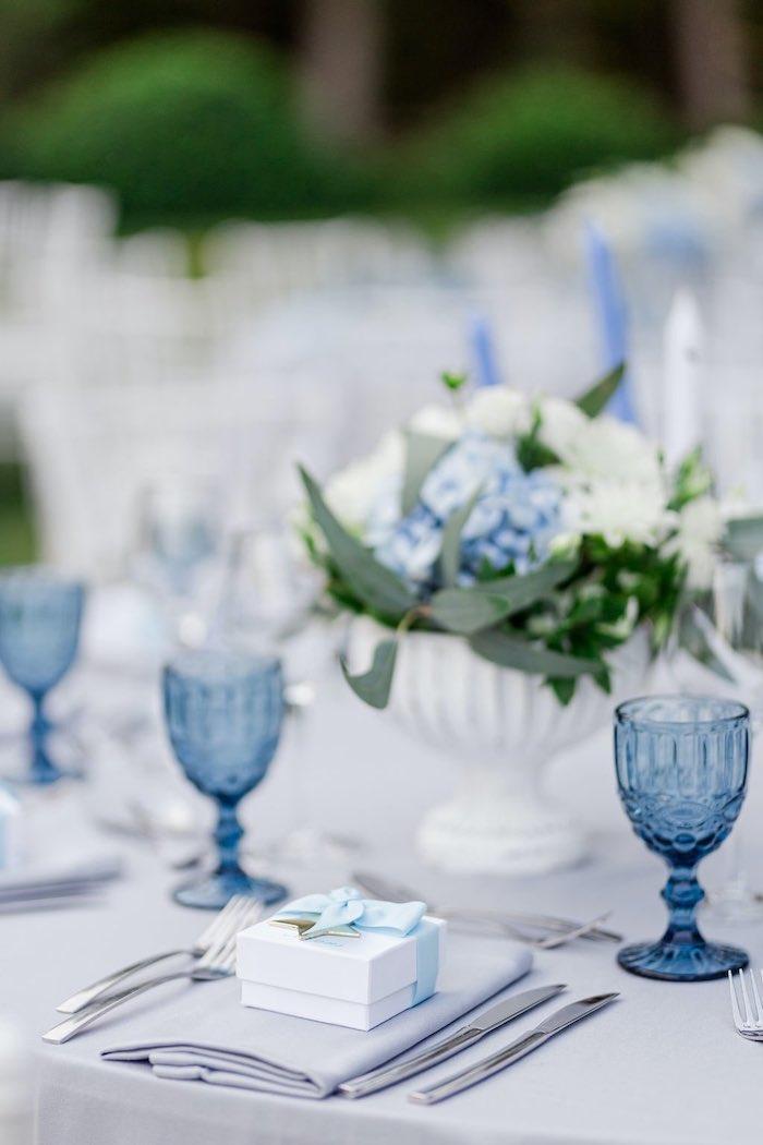 Blue & Gold Garden Baptism Party on Kara's Party Ideas   KarasPartyIdeas.com (4)