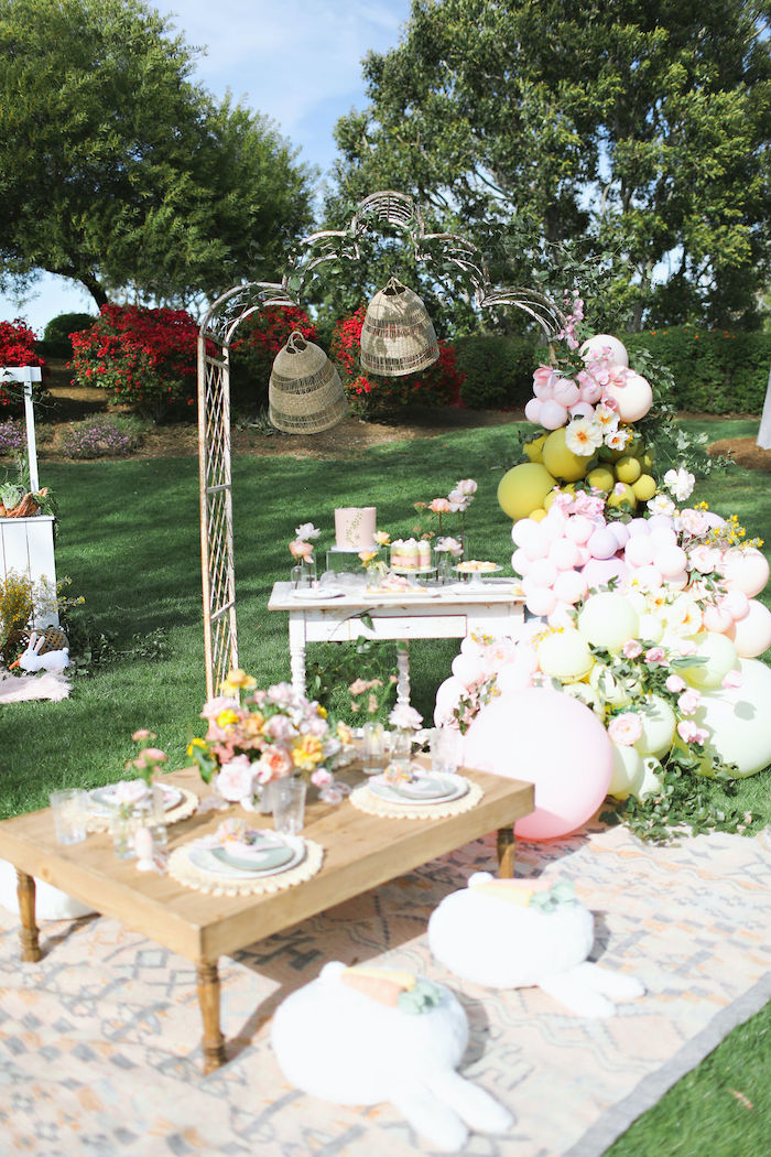 Boho Bunny Petting Zoo Party on Kara's Party Ideas | KarasPartyIdeas.com (58)