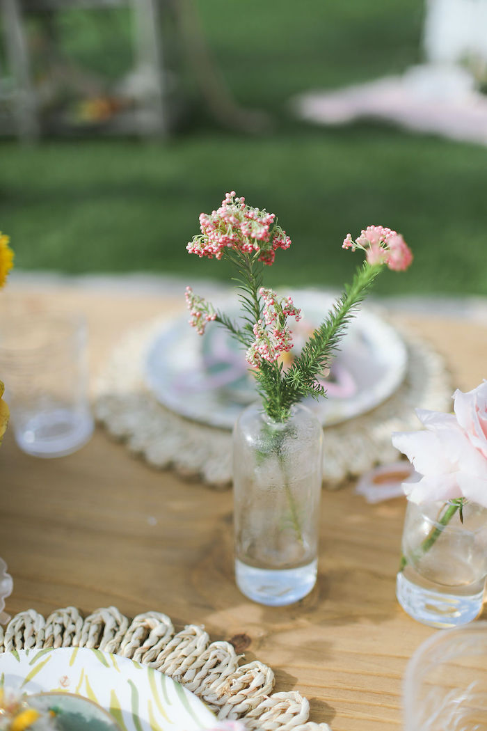 Boho Blooms from a Boho Bunny Petting Zoo Party on Kara's Party Ideas | KarasPartyIdeas.com (54)
