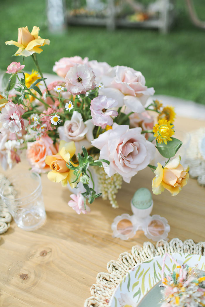 Boho Blooms from a Boho Bunny Petting Zoo Party on Kara's Party Ideas | KarasPartyIdeas.com (53)