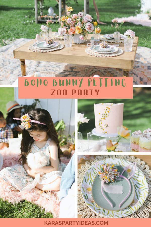 Boho Bunny Petting Zoo Party via Kara's Party Ideas - KarasPartyIdeas.com
