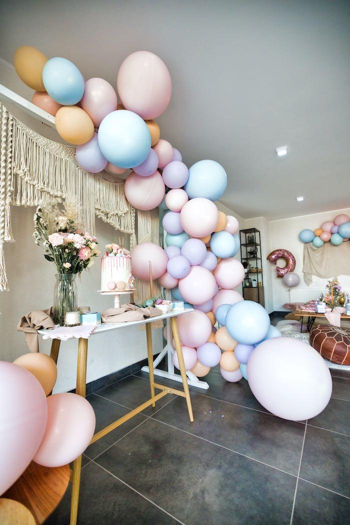 Boho Donut Birthday Party on Kara's Party Ideas | KarasPartyIdeas.com (12)